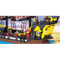 Enlighten Qman 307 Xếp hình kiểu LEGO Pirates of the Caribbean Corsair Tàu Cướp Biển Râu Đỏ 590 khối