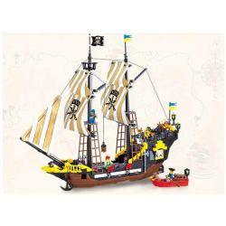 Enlighten 307 Qman 307 Xếp hình kiểu Lego PIRATES OF THE CARIBBEAN Corsair Adventure Tàu Cướp Biển Râu Đỏ 590 khối