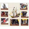 Enlighten 307 (NOT Lego Pirates of the Caribbean 6285 Black Seas Barracuda ) Xếp hình Tàu Cướp Biển Râu Đỏ 590 khối