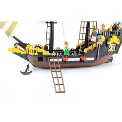 Enlighten 307 Qman 307 KEEPPLEY 307 Xếp hình kiểu Lego PIRATES OF THE CARIBBEAN Corsair Tàu Cướp Biển Râu Đỏ 590 khối