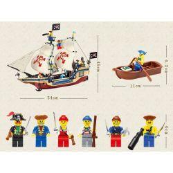 Enlighten 311 Qman 311 KEEPPLEY 311 Xếp hình kiểu Lego PIRATES OF THE CARIBBEAN Corsair King Of The Seas Sea King Tàu Vua Cướp Biển 487 khối