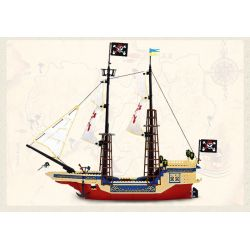 Enlighten 311 Qman 311 Xếp hình kiểu Lego PIRATES OF THE CARIBBEAN Corsair King Of The Seas Marine Tàu Vua Cướp Biển 487 khối