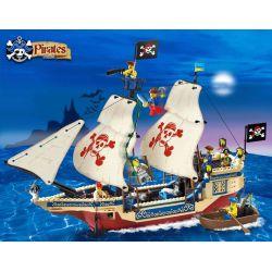 Enlighten 311 Qman 311 KEEPPLEY 311 Xếp hình kiểu Lego PIRATES OF THE CARIBBEAN Corsair:King Of The Seas Tàu Vua Cướp Biển 487 khối