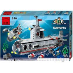 Enlighten 816 Qman 816 KEEPPLEY 816 Xếp hình kiểu Lego MILITARY ARMY CombatZones:Submarine Tàu Ngầm Tác Chiến Cùng Tàu Lặn Cá Nhân 3 Trong 1 382 khối