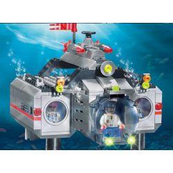 Enlighten Qman 816 Xếp hình kiểu LEGO Military Army CombatZones:Submarine Tàu Ngầm Tác Chiến Cùng Tàu Lặn Cá Nhân 3 Trong 1 382 khối