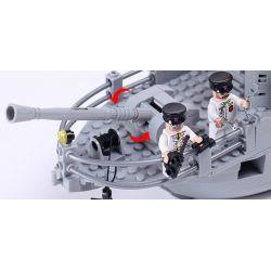 Enlighten 821 Qman 821 KEEPPLEY 821 Xếp hình kiểu Lego MILITARY ARMY CombatZones:Missile Cruiser Tàu Tên Lửa Tuần Dương Phối Hợp Trực Thăng Chống Ngầm 843 khối
