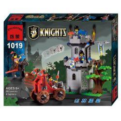 Enlighten 1019 Qman 1019 KEEPPLEY 1019 Xếp hình kiểu Lego CASTLE Castle Knights Tấn Công Pháo đài Trong Rừng 262 khối