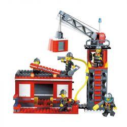 Enlighten 908 Qman 908 KEEPPLEY 908 Xếp hình kiểu Lego CITY Fire Rescue:Scaling Ladder Fire Engines Xe Thang Cứu Hỏa Lớn Và Xe Chiếu đèn 605 khối