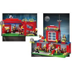 Enlighten 910 Qman 910 KEEPPLEY 910 Xếp hình kiểu Lego CITY Fire Rescue:Fire Control Branch Bureau Trụ Sở Cứu Hỏa Nhỏ 466 khối