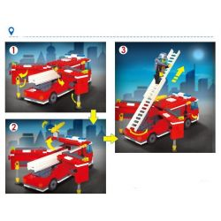 Enlighten Qman 911 Xếp hình kiểu LEGO City Fire Rescue:Fire Control Regional Bureau Trụ Sở Cứu Hỏa Với Trực Thăng Và Xe Thang, Xe Phun Nước Cứu Hỏa 970 khối
