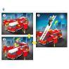 Enlighten 911 (NOT Lego City 60004 Fire Station Rescue Control Regional Bureau ) Xếp hình Trụ Sở Cứu Hỏa Với Trực Thăng Và Xe Thang, Xe Phun Nước Cứu Hỏa 970 khối