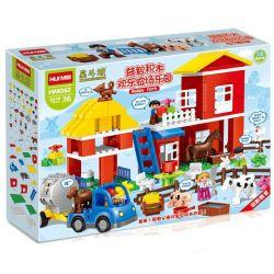 NOT Lego Duplo DUPLO 5649 Big Farm, HUIMEI STAR CITY XING DOU CHENG HM062 Xếp hình Nông Trại Lớn 115 khối