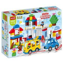 NOT LEGO Duplo 6052 My First LEGO DUPLO Vehicle Set, HuiMei Star City Xing Dou Cheng HM069 Xếp hình Giao Thông Trong Thành Phố 123 khối