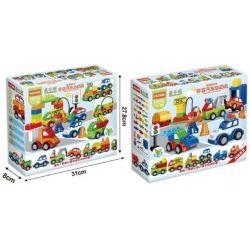 NOT LEGO Duplo 10552 Creative Cars, HuiMei Star City Xing Dou Cheng HM137 Xếp hình ô Tô Các Loại 52 khối