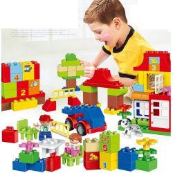 NOT LEGO Duplo 10580 Deluxe Box of Fun, HuiMei Star City Xing Dou Cheng HM139 Xếp hình Chơi Với Các Con Số 115 khối