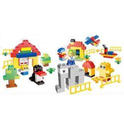 NOT Lego Duplo DUPLO 10557 Giant Tower, HUIMEI STAR CITY XING DOU CHENG HM169 Xếp hình Sáng Tạo Hộp Lớn 200 khối