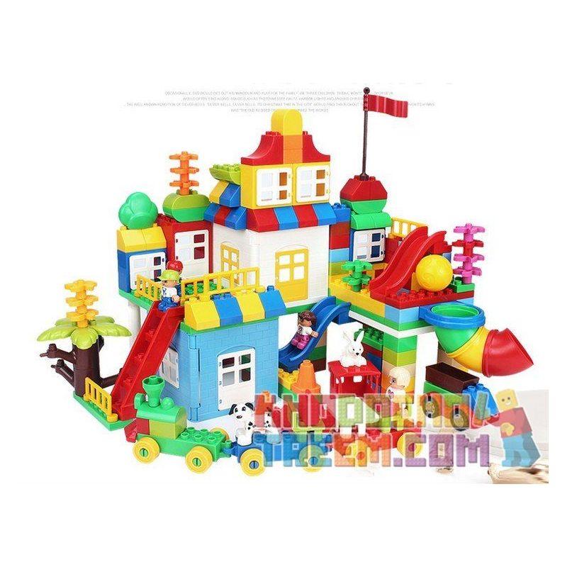 Huimei HM180 (NOT Lego Duplo 10622 Large Creative Box ) Xếp hình Sáng Tạo Hộp Siêu Lớn 193 khối