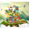 Huimei HM183 (NOT Lego Duplo Duplo Giant Box ) Xếp hình Sáng Tạo Hộp Nhựa Khổng Lồ 210 khối