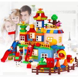 HuiMei Star City Xing Dou Cheng HM183 Xếp hình kiểu LEGO Duplo Duplo Giant Box Sáng Tạo Hộp Nhựa Khổng Lồ 210 khối