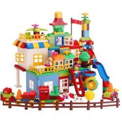 HUIMEI STAR CITY XING DOU CHENG HM183 Xếp hình kiểu Lego Duplo DUPLO Duplo Giant Box Sáng Tạo Hộp Nhựa Khổng Lồ 210 khối