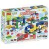 Huimei HM311 (NOT Lego Duplo 3772 Deluxe Train Set ) Xếp hình Tàu Hỏa Động Cơ Pin Và Ray 2 Vòng Tròn Lồng Nhau 125 khối