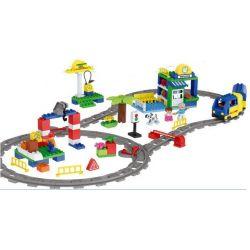 NOT Lego Duplo DUPLO 3772 Deluxe Train Set, HUIMEI STAR CITY XING DOU CHENG HM311 Xếp hình Tàu Hỏa động Cơ Pin Và Ray 2 Vòng Tròn Lồng Nhau 125 khối có động cơ pin