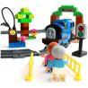 Huimei HM318 (NOT Lego Duplo 5554 Thomas Load And Carry Train Set ) Xếp hình Tàu Hỏa Động Cơ Pin Thomas Và Ray Bầu Dục 103 khối