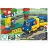 Huimei HM328 (NOT Lego Duplo 5608 Train Starter Set ) Xếp hình Tàu Hỏa Động Cơ Pin Và Ray Hình Tròn 64 khối