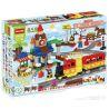 Huimei HM313 (NOT Lego Duplo 66494 Train 3-In-1 Pack ) Xếp hình Tàu Hỏa Cổ Động Cơ Pin Và Ray 2 Vòng Tròn Lồng Nhau 139 khối