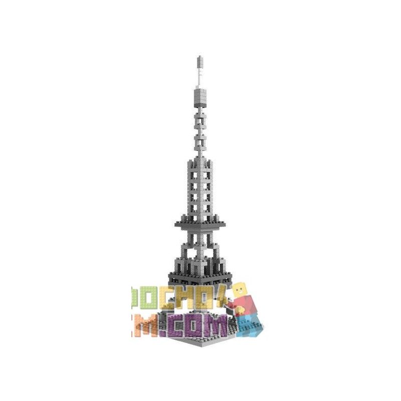 Loz 9361 Nanoblock Architecture 21019 Eiffel Tower Xếp hình Tháp Eiffel 321 khối
