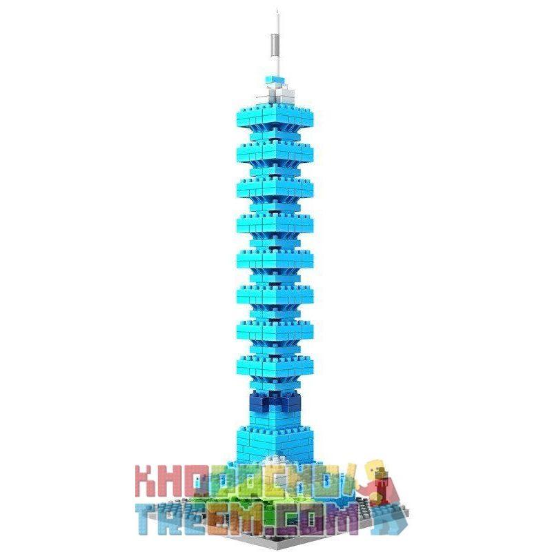 Loz 9365 Nanoblock Architecture Taipei 101 World Financial Center Xếp hình Tháp Trung Tâm Tài Chính Đài Bắc 101 390 khối