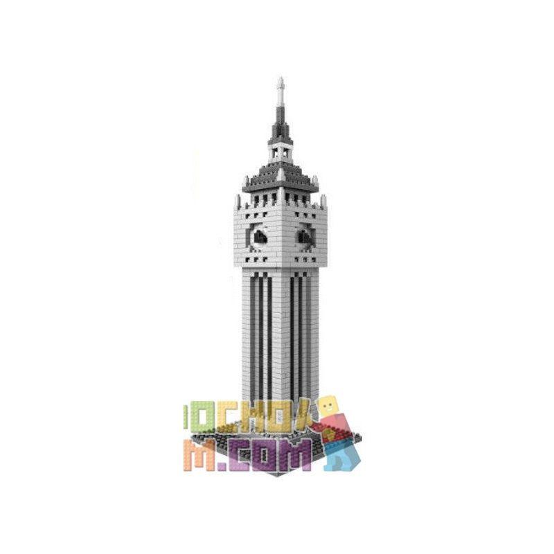 Loz 9369 Nanoblock Architecture Big Ben Xếp hình Tháp Đồng Hồ Big Ben 870 khối