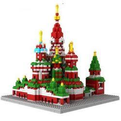 Loz 9375 Nanoblock Architecture Vasily Cathedral Xếp hình Nhà Thờ Thánh Vasily 1870 khối