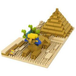 Loz 9376 Nanoblock Architecture Sphinx Pyramid Xếp hình Tượng Nhân Sư 330 khối