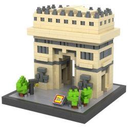 Loz 9377 Nanoblock Architecture Triumphal Arch Xếp hình Khải Hoàn Môn 640 khối