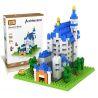 Loz 9380 Nanoblock Architecture Neuschwanstein Castle Xếp hình Lâu Đài Neuschwanstein Nhỏ 550 khối