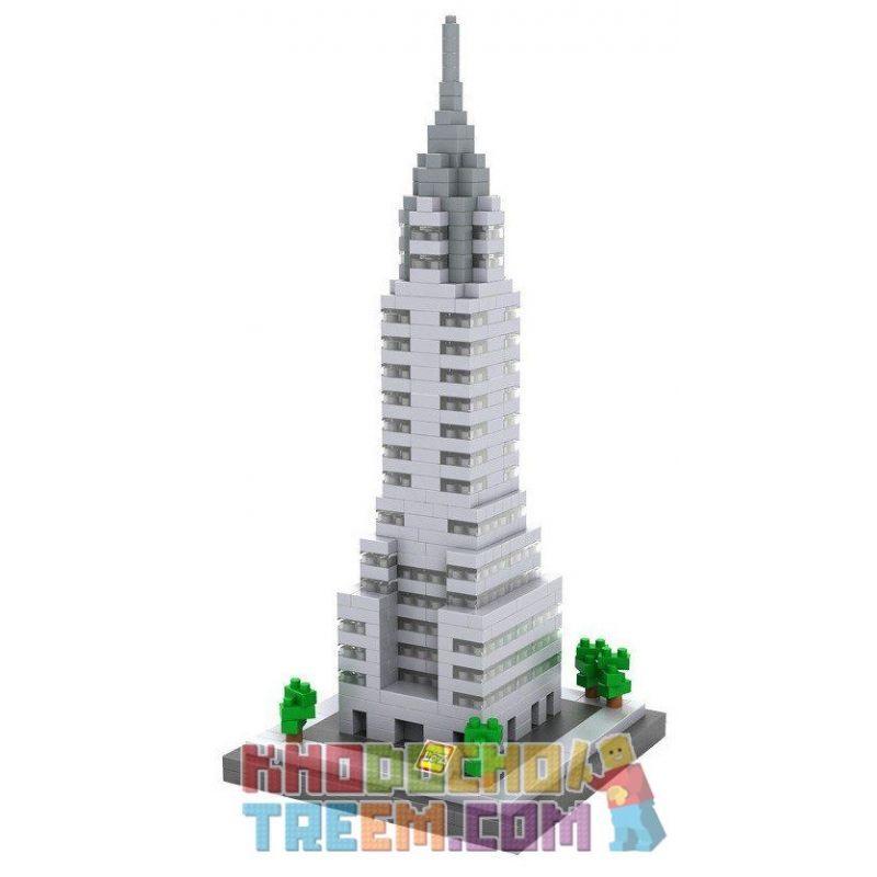 Loz 9381 Nanoblock Architecture Chrysler Building Xếp hình Tòa Nhà Chrysler 550 khối