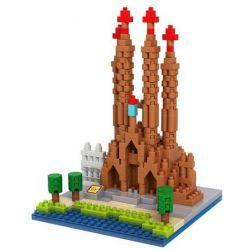 Loz 9382 Nanoblock Architecture Sagrada Familia Xếp hình Vương Cung Thánh Đường 470 khối