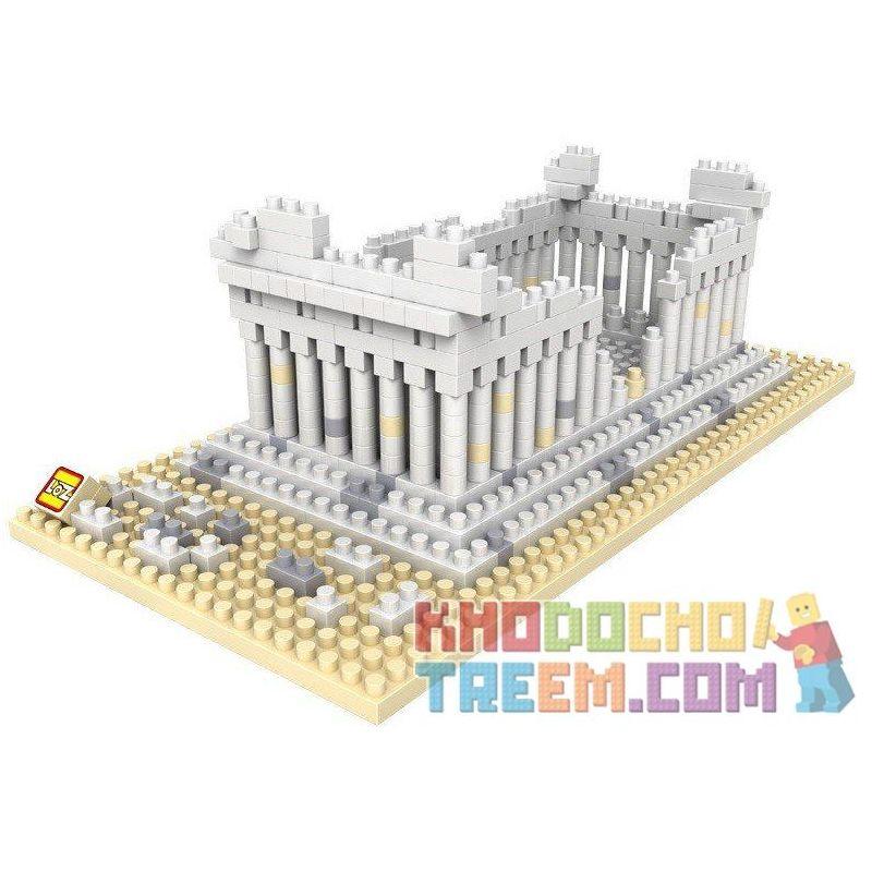 Loz 9383 Nanoblock Architecture Greek Temple Xếp hình Đền Parthenon 600 khối