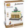 Loz 9385 Nanoblock Architecture 21011 Brandenburg Gate Xếp hình Cổng Brandenburg 560 khối