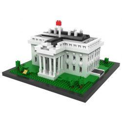 Loz 9386 Nanoblock Architecture White House Xếp hình Nhà Trắng 1170 khối