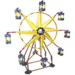 LOZ 2011 Xếp hình kiểu Nanoblock LOZ ELECTRIC AMUSEMENT PARK Electric Amusement Park Ferris Wheel đu Quay Hình Chong Chóng 8 Cánh Có động Cơ Pin 309 khối có động cơ pin