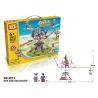 Loz 2014 (NOT Lego Loz Electric Amusement Park Electric Amusement Park Octopus Dandelion ) Xếp hình Đu Quay 4 Tay Văng Động Cơ Pin 338 khối
