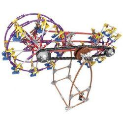 LOZ 2015 Xếp hình kiểu Nanoblock LOZ ELECTRIC AMUSEMENT PARK Electric Amusement Park Fantastic Ferris Wheel đu Quay 2 Bánh Xe Siêu Tốc động Cơ Pin 599 khối có động cơ pin