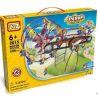Loz 2015 (NOT Lego Loz Electric Amusement Park Electric Amusement Park Fantastic Ferris Wheel ) Xếp hình Đu Quay 2 Bánh Xe Siêu Tốc Động Cơ Pin 599 khối