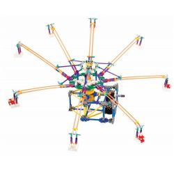 Loz 2023 P0005 (NOT Lego Loz Electric Amusement Park Electric Amusement Park Octopus Whirly Movable ) Xếp hình Đu Quay 8 Tay Văng Nghiêng Động Cơ Pin gồm 2 hộp nhỏ 512 khối