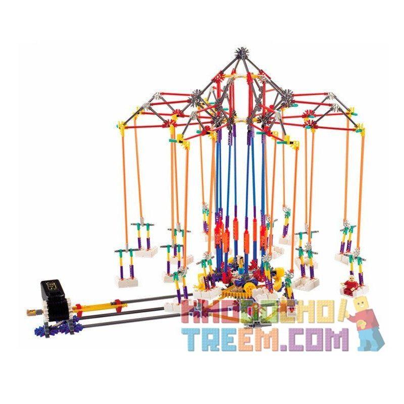 Loz 2025 P0007 (NOT Lego Loz Electric Amusement Park Electric Amusement Park Super Swing Flying Chairs ) Xếp hình Đu Quay Dây Treo 8 Ghế Động Cơ Pin gồm 2 hộp nhỏ 620 khối