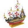 Loz 9048 Nanoblock Creator Series Santa Maria Xếp hình Tàu Santa Maria - Christopher Columbus Dùng Thám Hiểm Châu Mỹ 2660 khối