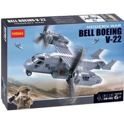 Decool 2113 (NOT Lego Military Army Bell Boeing V 22 Osprey Aircraft ) Xếp hình Máy Bay Quân Sự Chim Ưng Biển 393 khối