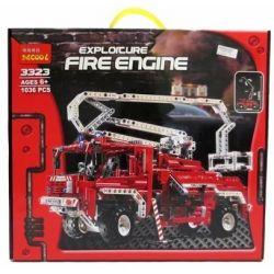 NOT Lego TECHNIC 8289 Fire Truck, Decool 3323 3327 Jisi 3323 3327 Xếp hình Xe Tải Cứu Hỏa (Mẫu 1) 1035 khối